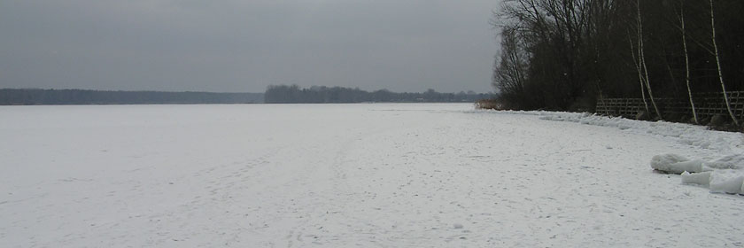 Senftenberger See im Winter