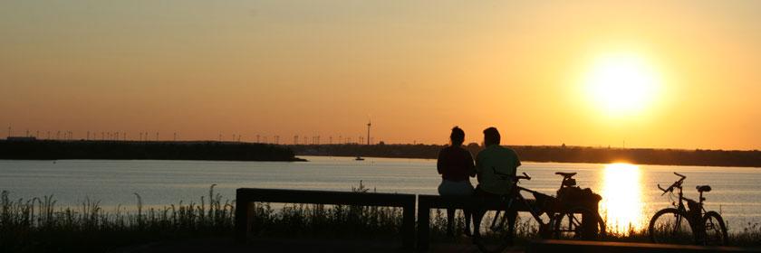 Sonnenuntergang am Überleiter
