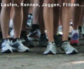 Laufen rennen joggen