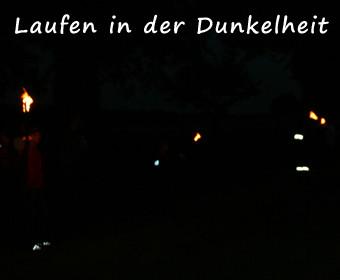 Laufen in der Dunkelheit
