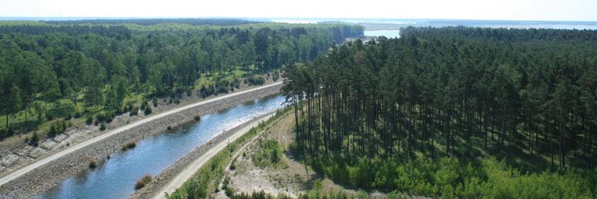 Überleiter vom geierswalder zum Sedlitzer See