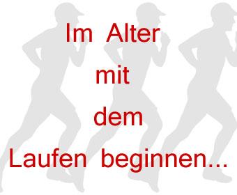 Im Alter mit dem Laufen beginnen