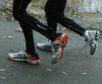 Einlaufen für das Lauftraining