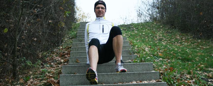 Krebsgang auf der Treppe