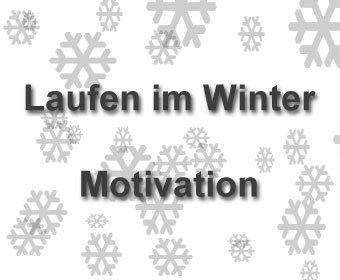 Laufen im Winter Motivation