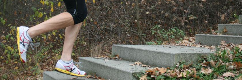 Einbeinsprünge Treppe