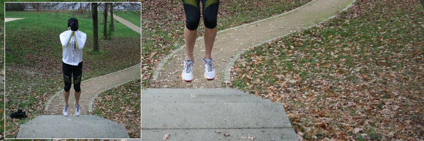 Schlusssprünge beim Treppentraining