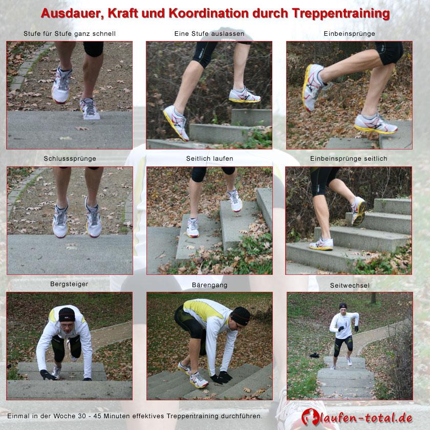 Treppentraining: 9 Übungen