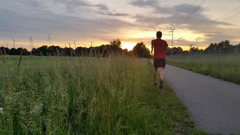 Laufen und Freude
