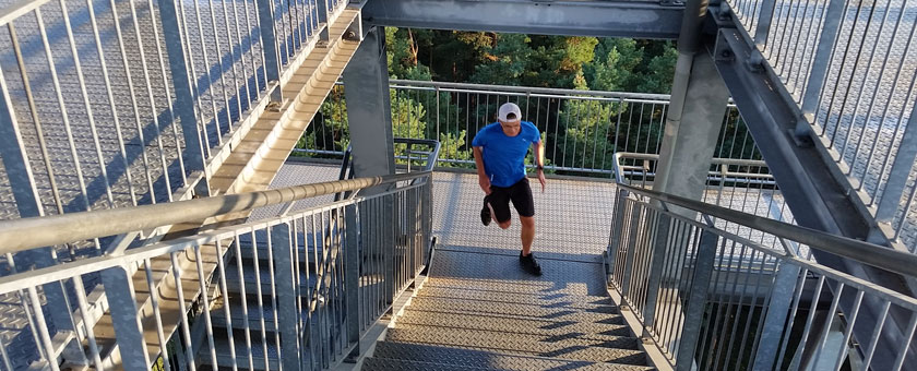 Treppe trainieren