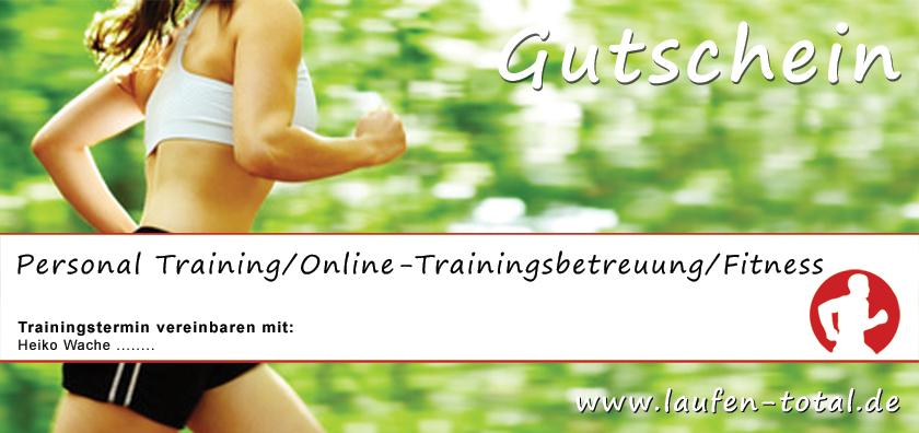 Lauftraining-Gutschein