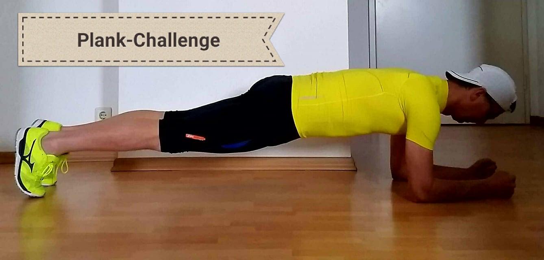 Laufen total-Plank-Challenge